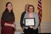 Shirley with the Lucy Mary Kellogg Award