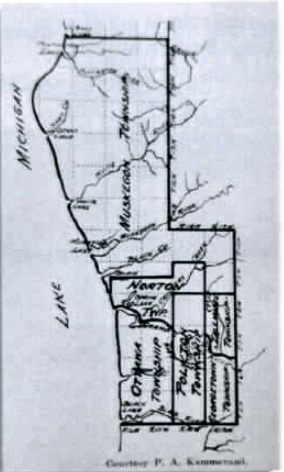 1845 map of Ottawa County
