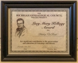The Lucy Mary Kellogg Award Certificate